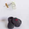 chaussons tout coton pour tenue de naissance