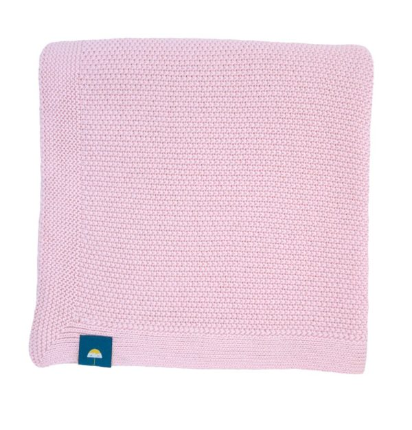 couverture rose en coton, fine et douce