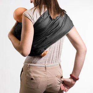portage asymetrique pour balade avec bébé