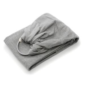 echarpe sans noeud gris chiné pour porter bébé