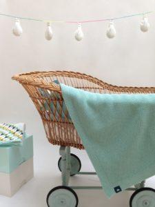 couverture mint pour bébé en maille de coton