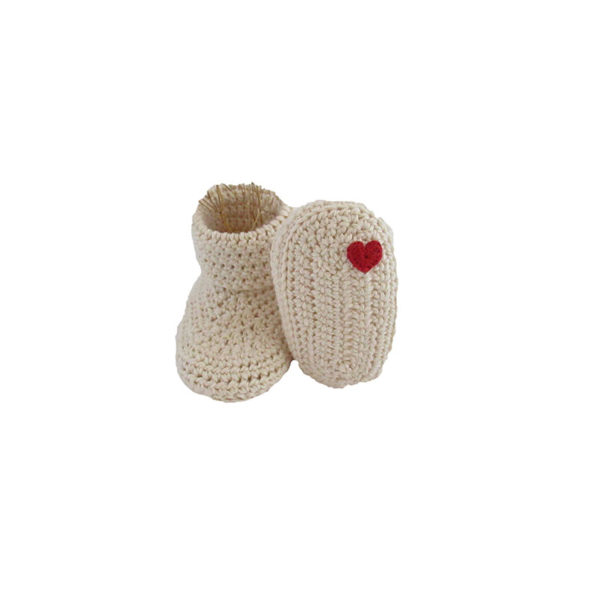chaussons bébé naissance tricotés mains et made in france