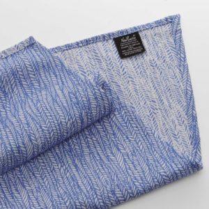 echarpe en coton bio bleu marine