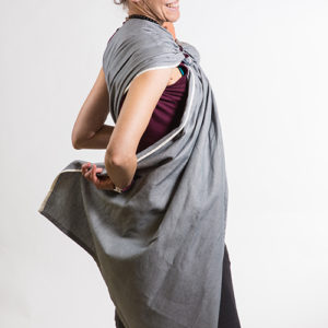 sling gris pour portage physio facile et rapide