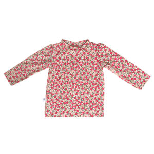 tee shirt anti uv fleuri