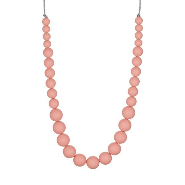 joli collier de portage et de dentition couleur nude