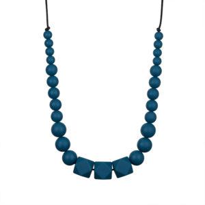 collier de portage anneau de dentition bleu pour soulager bébé
