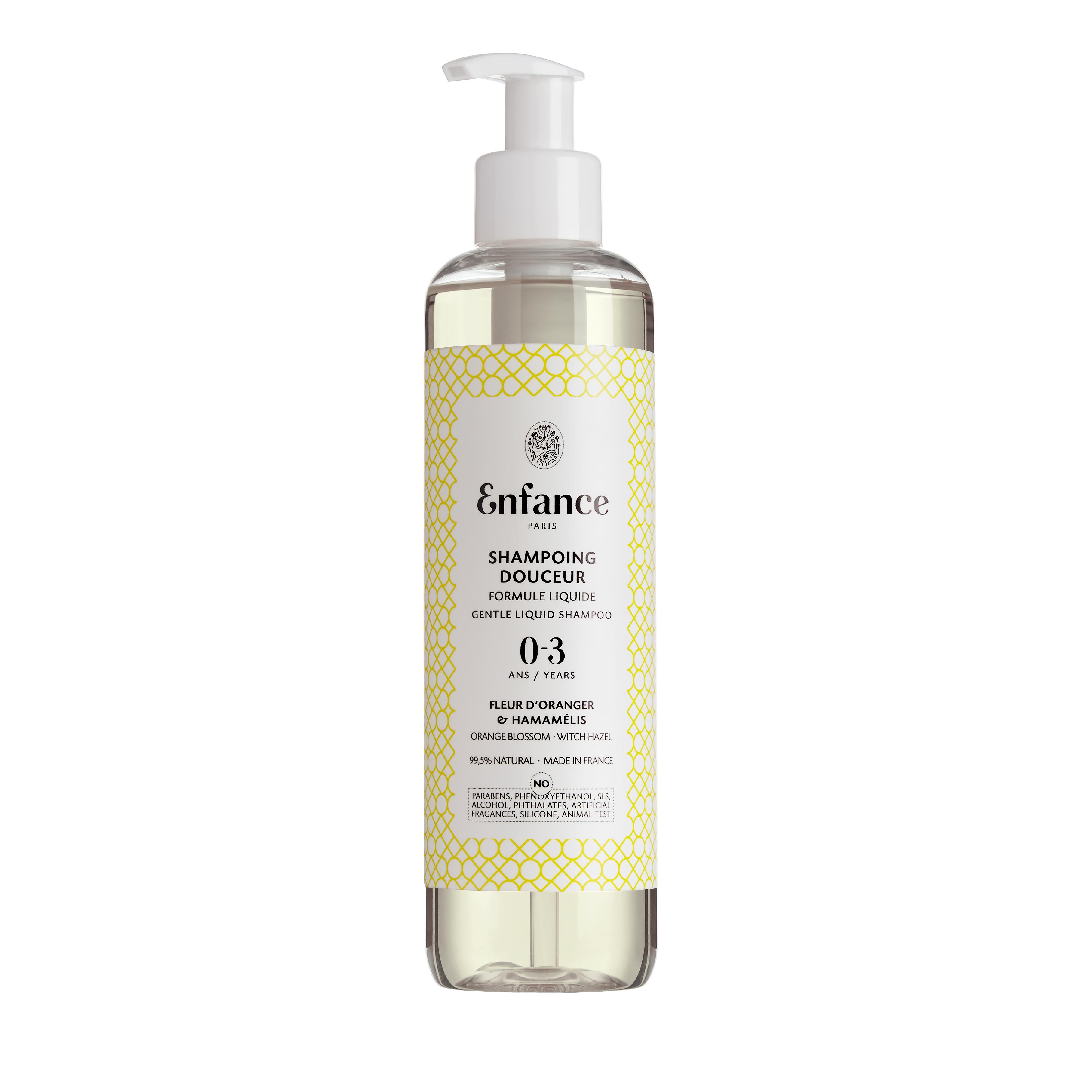 shampoing douceur pour bébé bio et composition clean