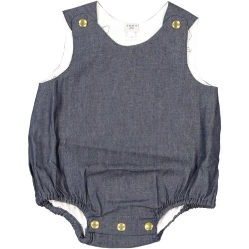 barboteuse en jeans canon pour bébé tendance