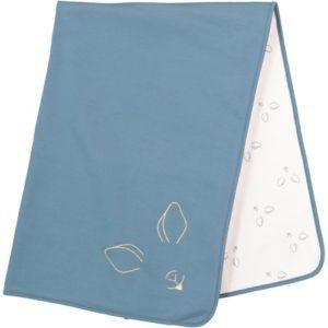 couverture bleue ideal cadeau de naissance pour bébé