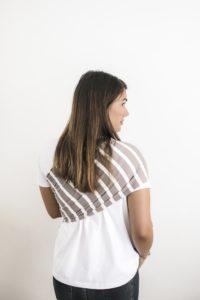 sling porte bébé bandeau simple beige rayé