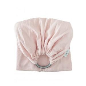 echarpe de portage sans noeud rose pour porter bébé