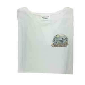 tee-shirt d'allaitement eat local stylé pour allaiter partout