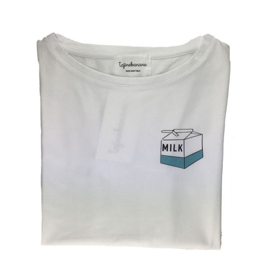 tee shirt d'allaitement take away milk unique, feministe, drôle et pratique. Tajinebanane c'est l'assurance d'allaiter partout, tout le temps.
