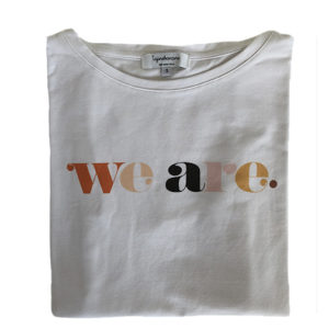 tee-shirt d'allaitement We are allaiter partout tout le temps en tee shirt tajinebanane