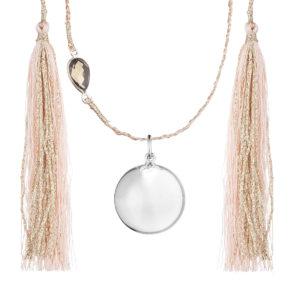 bijou de grossesse en argent collier tressé
