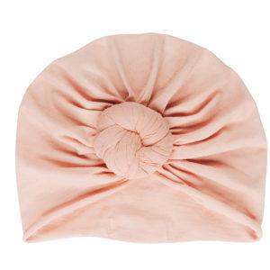 turban bébé nude rose