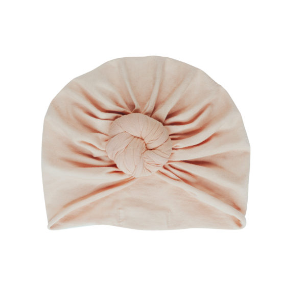 turban bébé rose