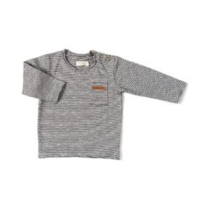 tee shirt nixnut manches longues bébé rayé blanc hyper confortable