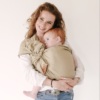 porte bébé facile taupe en lin