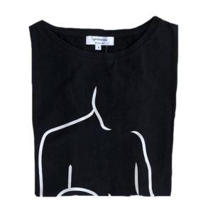 tee shirt allaitement noir ouverture discrete