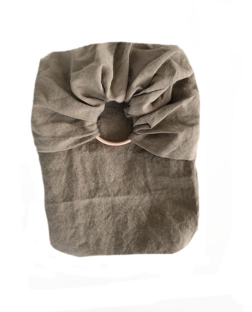 petite écharpe sans noeud en lin