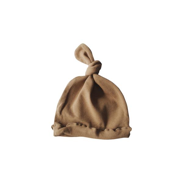Bonnet de naissance noué unisexe