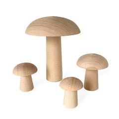 Champignon en bois pour décorer