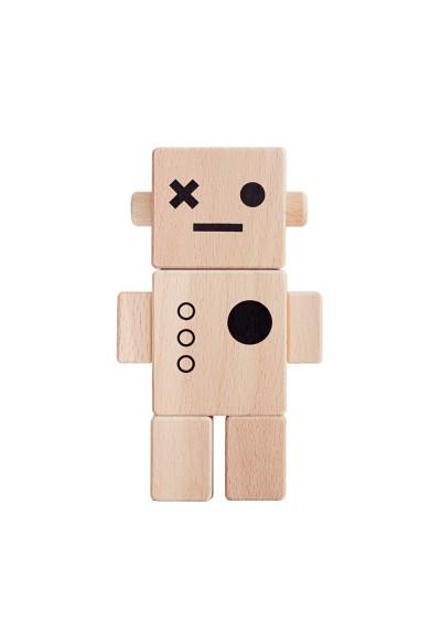 Jouet robot en bois enfant