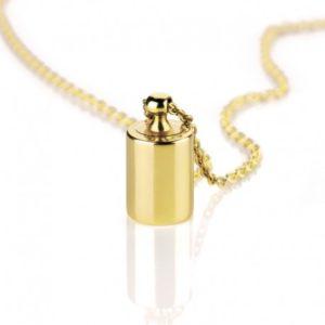 collier personnalisable en or jaune, cadeau naissance