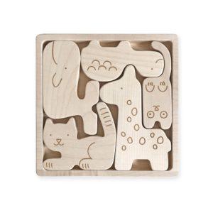puzzle animaux en bois pour enfant