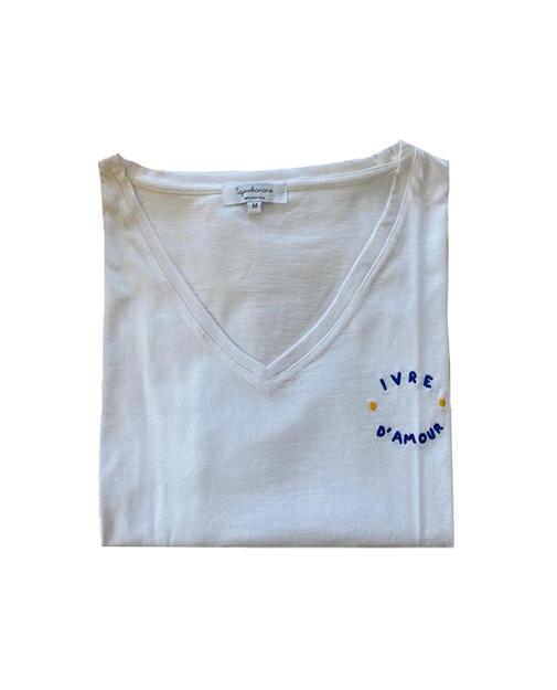 tee-shirt d'allaitement Ivre d'amour pour maman allaitante
