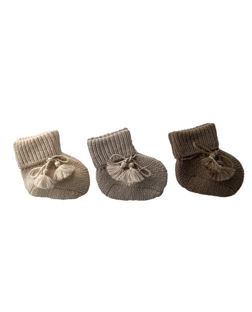 chaussons en maille bébé