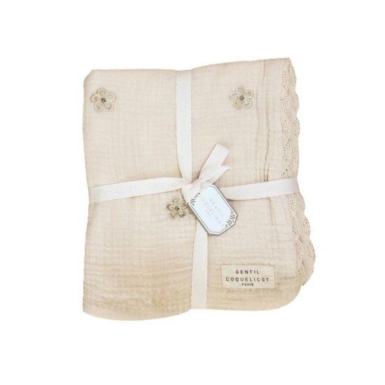 couvertures brodées bébé