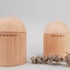 shaker cylindre en bois bébé