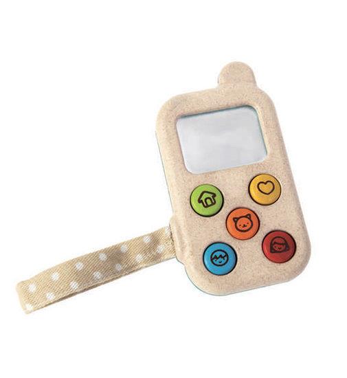 téléphone en bois pour enfant