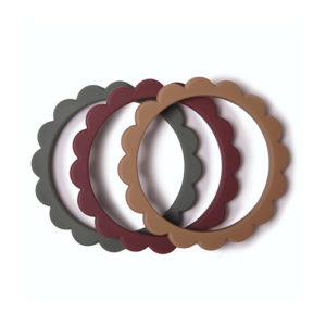 bracelet anneau de dentition en silicon