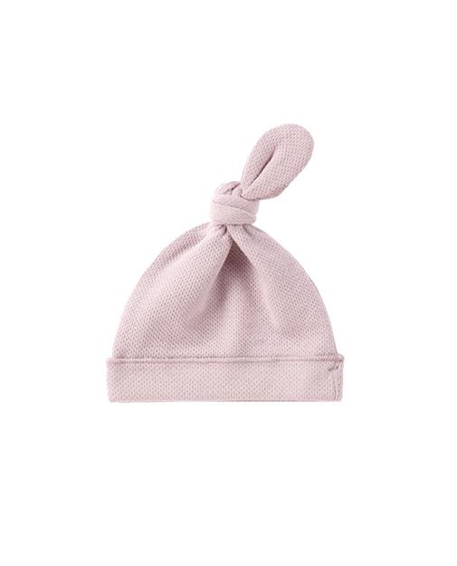 Bonnet de naissance noué maille pointelle